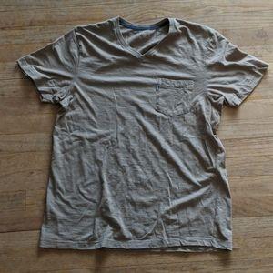 Levi Size L Men's V Neck Tan T-shirt